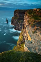 Cliffs of Moher and O'Brien's Tower  County Clare, Ireland
