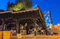 New York, Street Scenes, Shopping in the Meatpacking District , Night, Washington Street, Dusk
