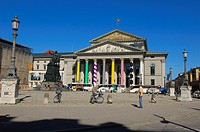 Munich, National Theater Opera House, Max-Joseph-platz, National Theater, Max Joseph Square, Bavaria, Bayern, Germany, Europe