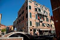 Ponte di San Stin, Sestiere San Polo, Venice, Veneto, Italy, Europe