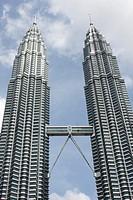 Business district of Kuala Lumpur, Petronas towers, Malaysia