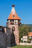 Medieval witches tower in Chatenois, Alsace, France, Europe