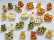 Italian Pasta with animal forms