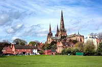 Lichfield Cathedral, Lichfield, Staffordshire, UK