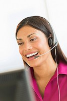 Female telephone worker