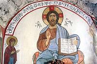 Mural painting, Monastery, Martvili, Samegrelo-Zemo Svaneti, Georgia