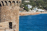 tossa de mar,catalonia,spain ancient tower with mediterranean