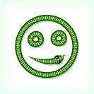 Snake font. Smiley