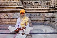 Sadhu holy man,Jagdish Temple,Udaipur, Rajasthan, india