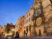 Astronomical clock, Old Town Hall, Old Town Square, Staromestske namesti, Prague, Czech Republic Europe