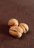 Three walnuts with copy space