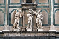 Florence Italy  Baptism of Christ in the Baptistery of St  John in the historic center of Florence