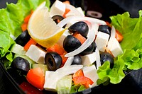 greek salad, macro