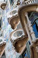 Casa Batlló House, Gaudí, 1904-1906 at the Passeig de Gràcia, Barcelona, Catalonia, Spain