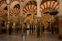 Interior of Mezquita_Catedral, Cordoba, Spain