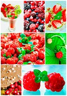 Collage of healthy fruit