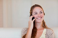 Woman enjoying her telephone conversation