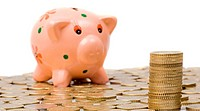 Piggy_bank and currencies