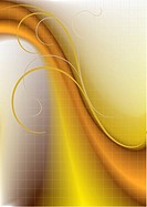 Colored wave on a yellowish_brown background