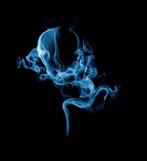 Swirling smoke in shape of fetus