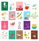 Various dishes postcard (thumbnail)