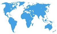 world map, isolated, clipping path