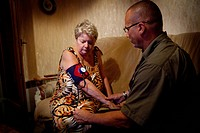 Reportage with a team from SOS Médecins emergency doctors based in Essonne in France. Home visit.