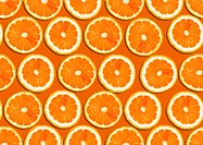 seamless background of orange slices