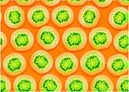 seamless background of kiwi slices