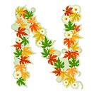 Pattern floral letter