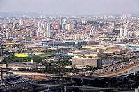 Aerial view, urban city, Center Norte, São Paulo, Brazil