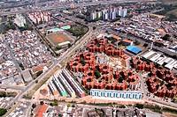 Aerial view, urban city, Avenue Getulio Vargas, Garden Piratininga, Highway President Castelo Branco, Osasco, São Paulo, Brazil