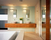 Modern Bathroom Featuring Overflow Tub