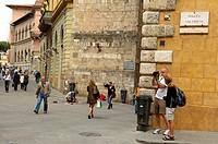 Siena, Salimbeni Square, UNESCO World Heritage Site, Piazza Salimbeni, Tuscany, Italy, Europe.