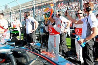 Lewis Hamilton GBR McLaren Mercedes, F1, Australian Grand Prix, Melbourne, Australia
