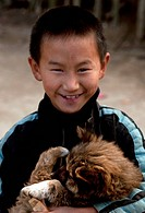 Portrait of a tribal. Rural Arunachal Pradesh, India, Asia.