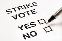 Blank strike voting paper