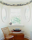 Oval Windows in Bowed Dormer