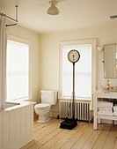 Traditional Bathroom with Antique Scale