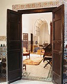 Open Doors to Bedroom in Marrakech Home