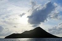 Sunset over a Caribbean Island.