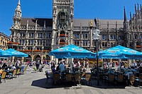 Munich, Neues Rathaus, New Town Hall, Marienplatz, Bavaria, Germany
