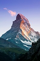 View at sunset of Matterhorn, Zermatt, Switzerland