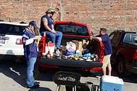 Fans Tailgating St  Louis Missouri MO Packers Rams