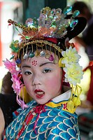 China , Shenzhen City, Splendid China Park, child in traditional costume