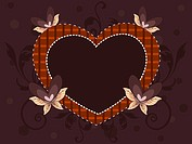 Abstract heart shape frame for valentines day and other occasion. Vector Illustr