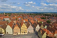 Rothenburg ob der Tauber, Romantic Road, Romantische Strasse, Franconia, Bavaria, Germany, Europe.