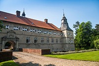 The picturesque moated castle Westerwinkel, Ascheberg, North Rhine-Westphalia, Germany, Europe
