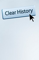 Cursor hovers over an Internet browser´s CLEAR HISTORY button