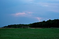 Lightning over the football field